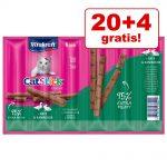 20 + 4 på köpet! Vitakraft Cat Stick Mini 24 x 6 g Rödspätta & omega-3