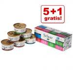 5 + 1 på köpet! 6 burkar Schesir våtfoder i blandpack - Natural med ris 6 x 85 g - 3 sorter