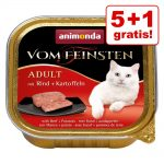5 + 1 på köpet! 6 x 100 g Animonda vom Feinsten - Kastrerade katter Kalkon