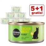 5 + 1 på köpet! 6 x 85 g Cosma Original och Thai/Asia - Original Mix (4 sorter)