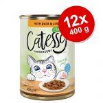 Catessy bitar i sås eller gelé kattmat 12 x 400 g - Lax i gelé