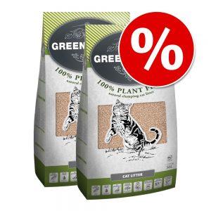 Ekonomipack: 2 förpackningar Greenwoods kattströ till lågt pris! - Bentonite (2 x 14 kg)