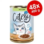 Ekonomipack: Catessy bitar i sås eller gelé 48 x 400 g - Nötkött i gelé