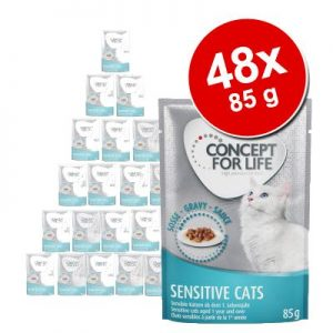 Ekonomipack: Concept for Life 48 x 85 g - Sterilised Cats i sås