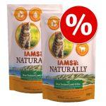Ekonomipack: IAMS Naturally Cat Adult 2 x 2,7 kg - Salmon