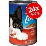 Ekonomipack: Latz bitar i gelé 24 x 400 g - Blandpack: Lax & öring och Nötkött & kyckling