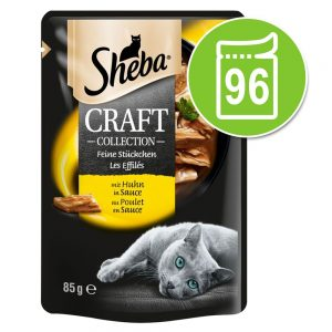 Ekonomipack: Sheba Craft Collection 96 x 85 g Succulent Selection in Sauce