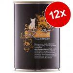 Ekonomipack: catz finefood Purrrr 12 x 400/375 g - Blandpack (6 x 400/375 g)