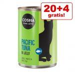 20 + 4 på köpet! 24 x 400 g Cosma Thai/Asia och Original i gelé - Thai/Asia Kyckling & kycklinglever