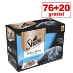 76 + 20 på köpet! 96 x 85 g Sheba kattmat - Multipack: Fish in Jelly