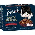 Latz ''''Tasty Shreds'''' Pouches 12 x 80 g - Farm Selection
