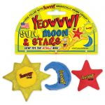 Yeowww kattleksak sol, måne, stjärna