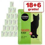 18 + 6 på köpet! Cosma portionspåsar 24 x 100 g Original Kycklingbröst