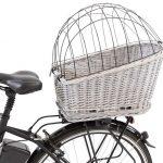 Cykelkorg för pakethållare ljusgrå