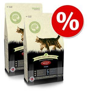 Ekonomipack: 2 x James Wellbeloved kattfoder till lågpris! - Adult Hairball Turkey (2 x 4 kg)