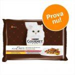 Provpack: Gourmet a la Carte 4 x 85 g - Anka, fjäderfä, sardiner, öring