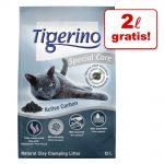 10 / 12 + 2 l på köpet! 12 / 14 l Tigerino kattströ Special Care Active Carbon 12 l