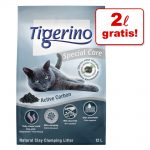 10 / 12 + 2 l på köpet! 12 / 14 l Tigerino kattströ Special Care White Grain 12 l