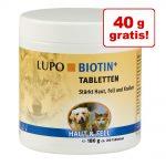 120 g + 40 g på köpet! 180 g LUPO Biotin+ - 180 g (ca 200 tabletter)