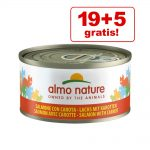 19 + 5 på köpet! Almo Nature 24 x 70 g - Tonfisk & babysardiner