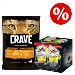 750 g Crave torrfoder + 6 x 37,5 g Sheba Perfect Portions till sparpris! - Turkey & Chicken (750 g) + Perfect Portions: Lax (6 x 37,5 g)