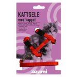 Ozami Kattungesele med koppel Röd