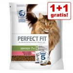 1 + 1 på köpet! 2 x 750 g Perfect Fit torrfoder katt - Sensitive 1+ Kyckling