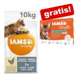 10 kg IAMS for Vitality + 12 x 85 g Delights in Sauce på köpet! - Hairball Adult Chicken