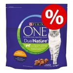 20 % rabatt! 2 x 1,4 kg Purina One Dual Nature 2 x 1,4 kg Dual Nature Lax