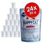 Ekonomipack: Happy Cat Pouch All Meat 24 x 85 g - Kalkon & sej