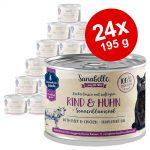 Ekonomipack: Sanabelle All Meat 24 x 195 g - Nötkött & kyckling