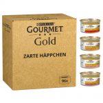 Jumbopack: Gourmet Gold 96 x 85 g Raffinerad Ragout: nötkött, kyckling, tonfisk, lax