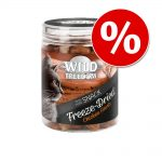 Kanonpris! Wild Freedom Freeze-Dried Snacks kattgodis! - Nötlever 60 g