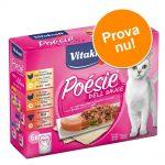 Vitakraft Poésie DéliSauce Pouch blandpack 6 x 85 g - Kött-Mix