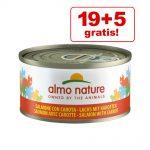 19 + 5 på köpet! Almo Nature 24 x 70 g - Tonfisk & venusmusslor