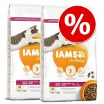 Ekonomipack: IAMS torrfoder för katter 2 x 10/15 kg for Vitality Adult Indoor Chicken (2 x 10 kg)