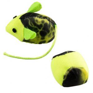Kattleksaker Flash Mus & Boll Grön Neon