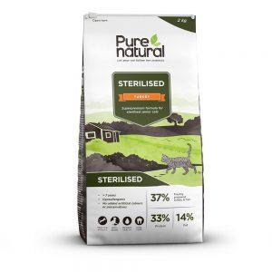 Purenatural Cat Sterilised Senior Turkey (2 kg)