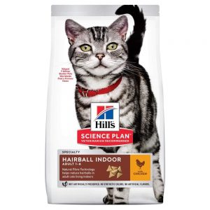 Science Plan Adult Hairball & Indoor med Kyckling för Katt (1,5 kg)