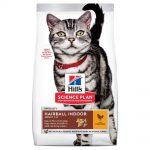 Science Plan Adult Hairball & Indoor med Kyckling för Katt (3 kg)