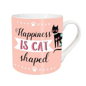 TeMugg Happiness is Cat Shaped