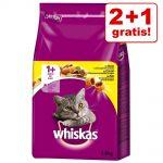 2 + 1 på köpet! 3 x 3,8 kg Whiskas 1+ - Lamm
