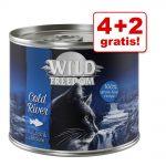 4 + 2 på köpet! Wild Freedom våtfoder 6 x 200 / 400 g Wild Hills - Duck & Chicken 6 x 400 g