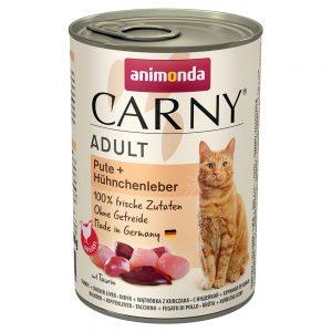 Animonda Carny Adult 6 x 400 g - Nötkött & torsk med persiljerot