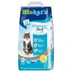 Biokat's Classic Fresh 3in1 Cotton Blossom - Ekonomipack: 3 x 10 l