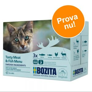 Blandpack: Bozita bitar i sås Pouch 12 x 85 g - Blandpack kött (4 sorter)