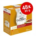 Blandpack Gourmet Gold 48 x 85 g Gravy Collection i sås