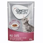 Concept for Life All Cats - i sås - 12 x 85 g
