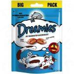 Dreamies Cat Treats Big Pack 180 g - Blandpack: Ost, Kyckling, & Lax (6 x 180 g)