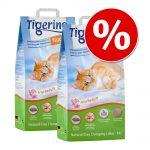Ekonomipack: 2 x 14 l Tigerino Nuggies kattsand - Fresh Scent (2x14l)